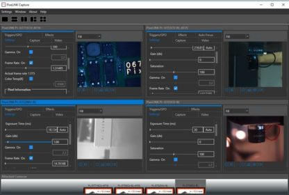 Pixelink Capture Software, real-time, interactive, multi-camera software application